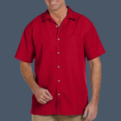 Mens Barbados Textured Camp Shirt