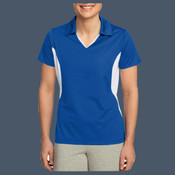 Ladies Side-blocked Micro Pique Polo