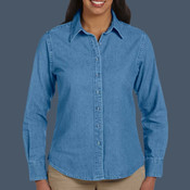 Ladies' 6.5 oz. Long-Sleeve Denim Shirt